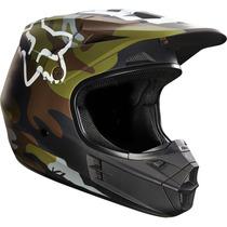 Casco Fox V1 Camo Camuflage Mate 2016 Motocross Atv Talla M