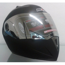Casco Abatible Dot Moto Iron/lente Interno/ Negro Mate