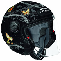 Stealth Phantom Convertible Helmet With Butterfly Graphic
