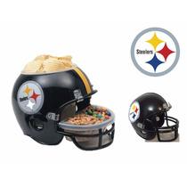 Casco Nfl Pittsburgh Steelers Combo Botanero Y Alcancía