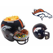 Casco Nfl Denver Broncos Combo Botanero Y Alcancía