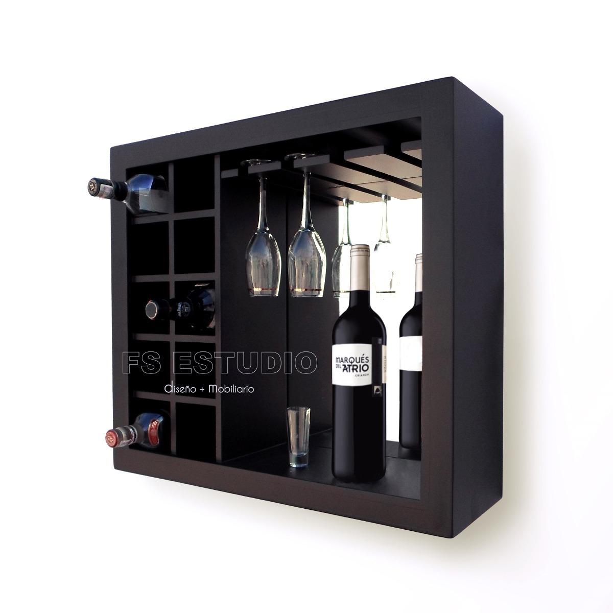 Cava cantina mueble contemporane para vinos copas de for Bar madera moderno