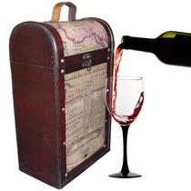 Crafts&home Cava De Madera Para 2 Botellas De Vino