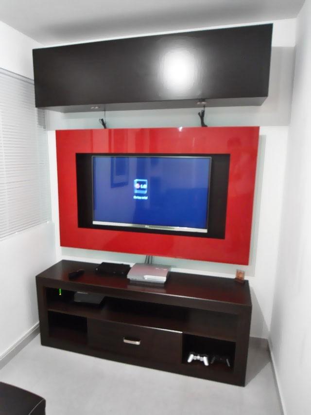 Muebles y libreros centros de entretenimiento en salas for Muebles televisor moderno
