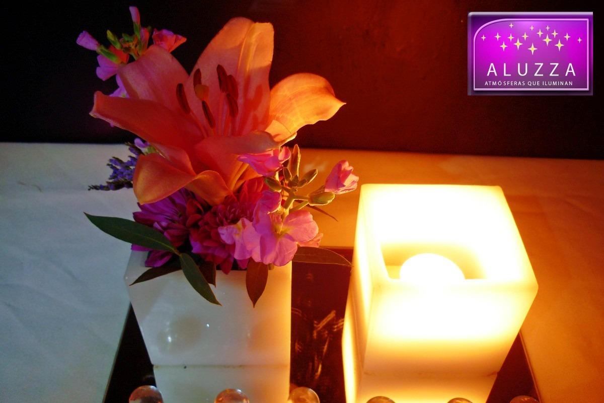 Original centro de mesa para boda aluzza pecera de cristal - Mesas de cristal para bodas ...