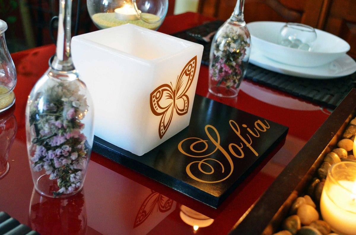 Anos aluzza mdn centro de mesa para decoracion de xv car for Decoracion para mesas de centro