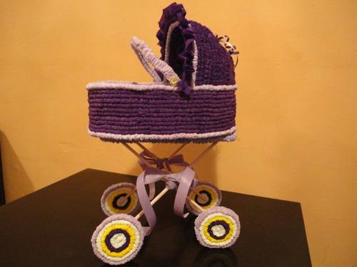 Centros De Mesa Baby Shower Carreola Crepe Grande - $ 130.00 en