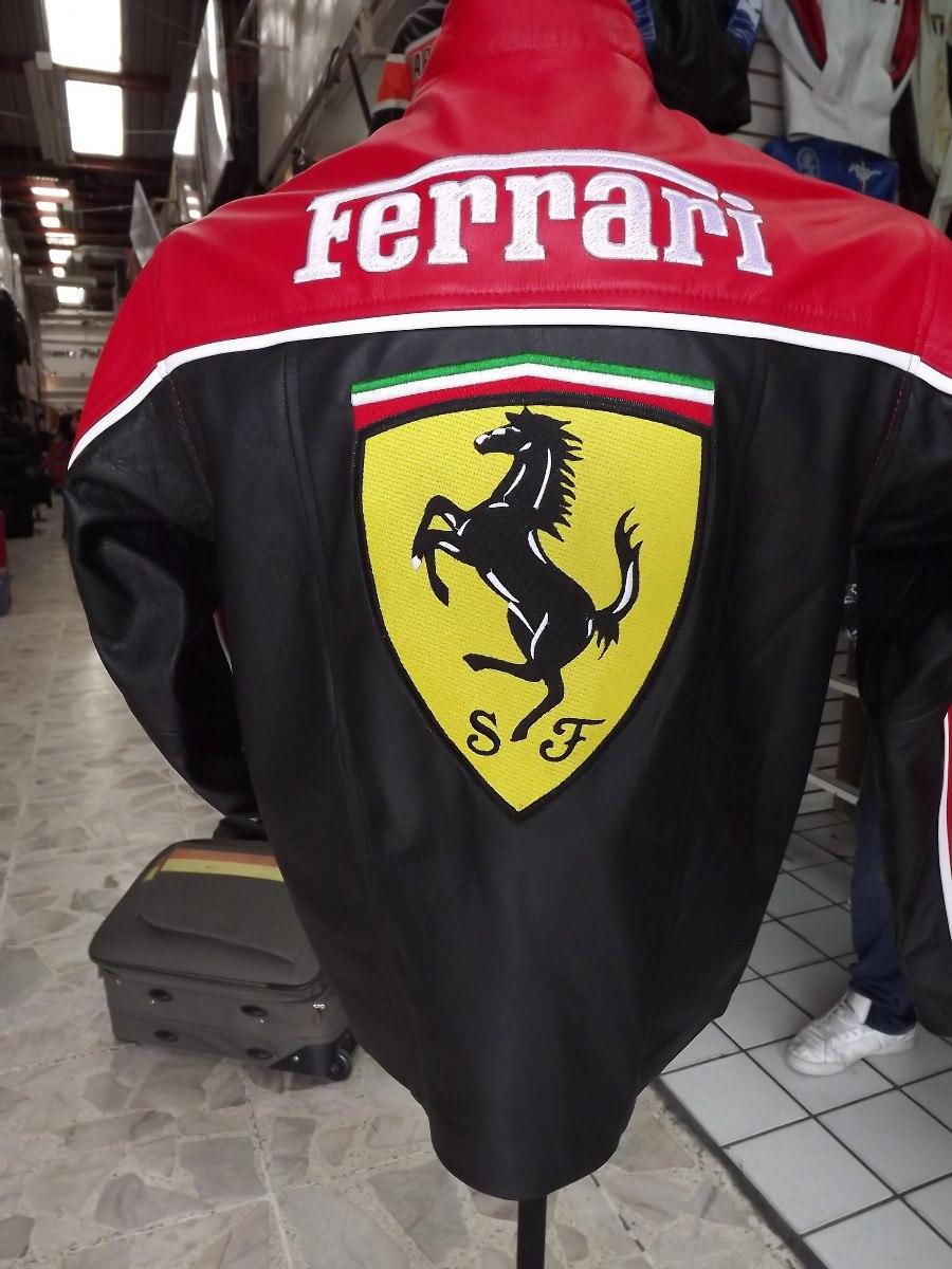 Chamarra 100% Piel Emotiva Ferrari Fina Bordada Deportiva ...
