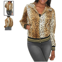 Hot Topic Chamarra Leopard Faux Fur Jacket M