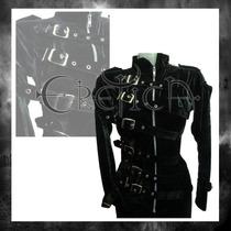 Chamarra Eretica Ropa Dark,gotico.roker,metalero Terciopelo1
