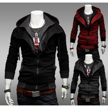 Sudadera Moda Europea Slim Fit Estilo Assassins Creed