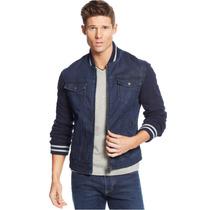 Chamarra Armani Jeans Denim Fleece Jacket Talla L