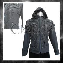 Chamarra Eretica Algodon 14 Arg.gotico,dark,metalero,rockero