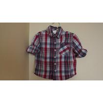 Camisa Cuadros Marca Cherokee Talla 12 Meses