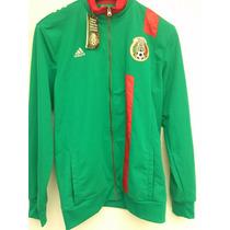 Adidas Chamarra Seleccion Mexicana Futbol Fmf Trk Top Verde