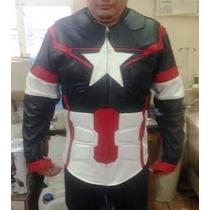Chamarra Avengers 100% De Piel De Borrego!!!!