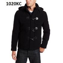 L - Abrigo Negro Kenneth Cole Ropa De Hombre 100% Original