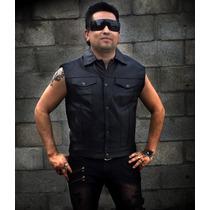 Chaleco Estilo Country Biker Motociclista Metal Rock