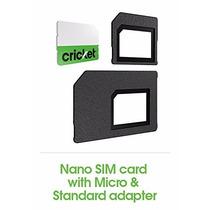 Cricket Wireless Nano Sim Card Nuevo, Envio Dhl Gratis! $329