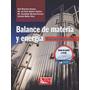 Libro: Balance De Materia Y Energía Pdf