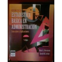 Estadistica Básica En Administración 6ta Edición Berenson