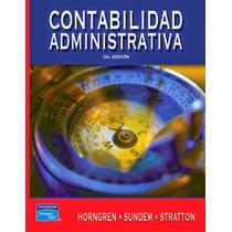 Ebook Contabilidad Administrativa Horngren Sundem Stratton