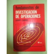Fundamentos De Investigacion De Operaciones Ackoff Sasieni
