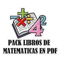 Pack Libros Pdf De Matematicas:algebra,calculo,geometria