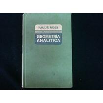 Paul R, Rider, Geometría Analítica, Montaner Y Simón, España