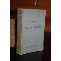 De Los Deberes Marco Tulio Cicerón El Colegio De México 1945