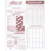 Wisc Iv Pruebas Psicométricas Protocolos De Registro. Paq.15