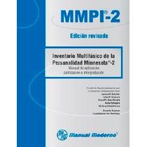 Minnesota-2 Mmpi-2 R Inventario Multifásico D Personalidad
