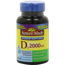 Nature Made, La Vitamina D3 2000 Ui Cápsulas Líquidas, 250-c