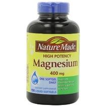Nature Made Alta Potencia Magnesio 400 Mg - 150 Cápsulas Líq