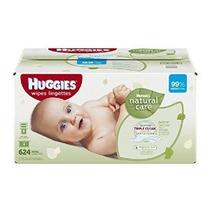 Huggies Natural Care Bebé Wipes Refill 624 Count (embalaje P
