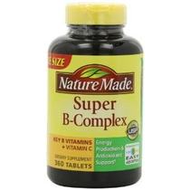 Nature Made Super B Complex Tabletas 1080 Conde Jumbo Tamaño