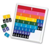 Aprender Fracción Recursos Rainbow Plástico Azulejos Con Ban