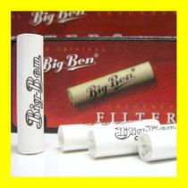 10 Filtros 9mm Carbon Activado Para Fumar Tabaco Con Pipa Bb