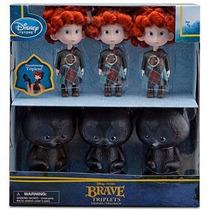 Paquete De Trillizos Brave Valiente Disney Store Colección