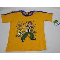 Camiseta Playera Amarilla Ben 10 Talla 12 Niño Nueva