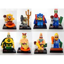 Set Bob Esponja Patricio Don Cangrejo Compatible Con Lego