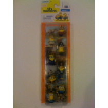 8 Figuras De Minions De 2 Cm. Mi Villano Favorito.