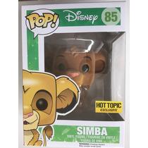 Funko Pop Simba Aterciopelado Rey Leon Disney Flocked Exclus