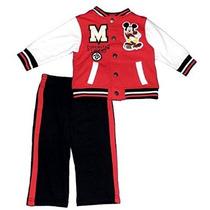 Mickey Mouse 2 Piece Set Fleece Jacket Disney Niños Bebés