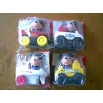 Lote De 4 Vehiculos De Plastico De Mickey Mouse