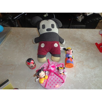 Lote Figuras Y Peluche Mickey Mouse