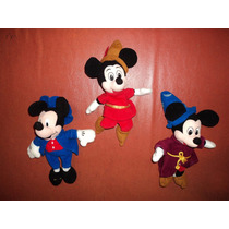 Disney Mickey Mouse Lote De 3 Figuras Loose Peluche Checalas