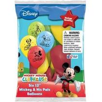 Disney Mickey Y Sus Amigos 12 Surtido De Colores Globos (co