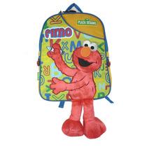 Elmo Mochila Pequeña Kinder Plaza Sesamo Sesame Street