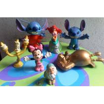Disney Gran Lote De Munecos Stitch Minnie Sirenita Etc